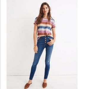 """Madewell 10"""" High-Rise Skinny Jeans in Hanna Wash"""